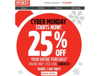 25% off your Entire Order - Cyber Monday Super Sale