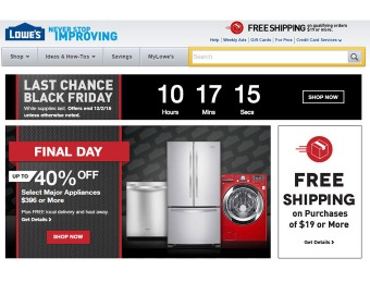 Lowe's Best of Black Friday Sale Event