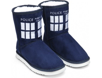 50% off TARDIS Boot Slippers