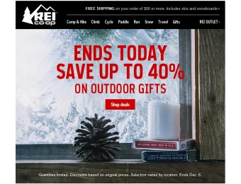 REI Cyber Monday Savings Deals (Extended)