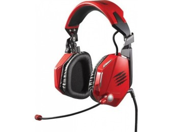 $96 off Mad Catz F.R.E.Q.7 Surround Gaming Headset for PC, Red
