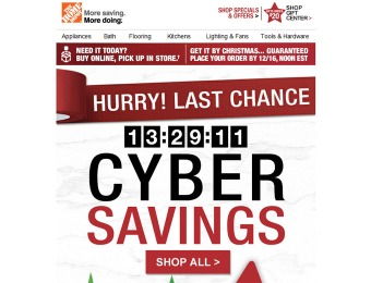 Home Depot Cyber Savings Sale - Tons of Great Deals