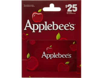25% off Applebee's Gift Cards ($25 Gift Card for $18.75)