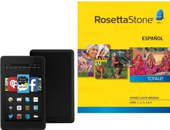 Free Fire HD 6 with Rosetta Stone, 27 choices