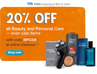 20% off All Beauty & Personal Care (even sale items) w/ code BPC20