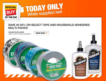 40-50% off Select Tape & Household Adhesives Multi-Packs
