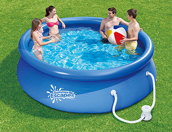 "51% off Summer Escapes Round 10' x 2'6"" Quick-Set Swimming Pool"