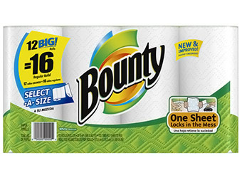 Extra 17% off Bounty Select-A-Size Big Rolls Paper Towels (12 Ct)