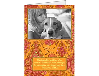 32% off Custom Photo Greeting Card w/ Premium Lined Envelope