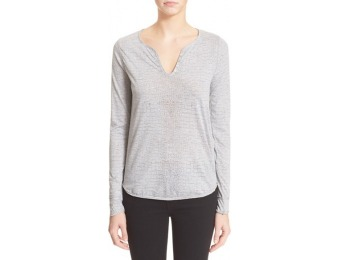 60% off Women's Zadig & Voltaire 'Tunisien' Burnout Long Sleeve Shirt