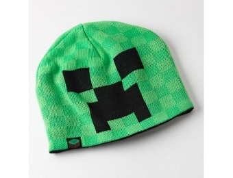 60% off Minecraft Creeper Face Beanie - Boys, Green