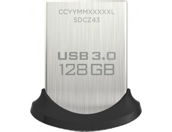 75% off Sandisk Ultra Fit 128GB USB 3.0 Flash Drive SDCZ43-128G-A46