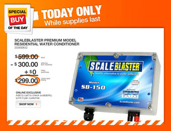 $300 off ScaleBlaster SB-150 Residential Water Conditioner