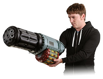 83% off Inflatable Minigun Arm