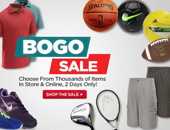 BOGO 50% off Sale on Shoes, Clothing, Apparel & Sporting Goods