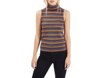 50% off Women's Topshop Metallic Stripe Funnel Neck Tank