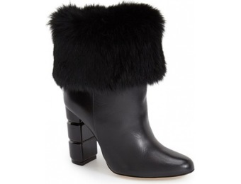 60% off Salvatore Ferragamo Loris Women's Boot with Rabbit Fur