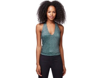 57% off Topshop Women's Metallic Halter Top