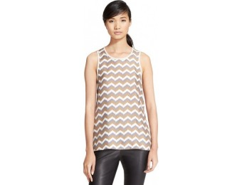 60% off Women's Rag & Bone 'Aster' Print Silk Twill Tank