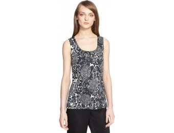 66% off St. John Collection Leopard & Floral Print Women's Knit Shell