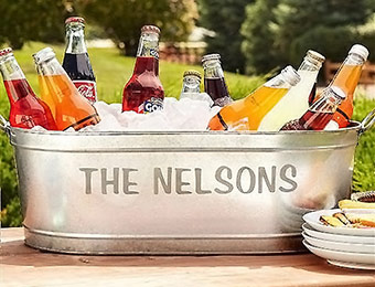37% off Personalized Galvanized Beverage Tub