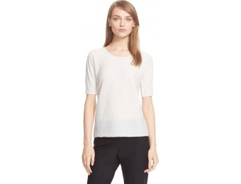 66% off Women's Armani Collezioni Twist Stripe Short Sleeve Jersey Tee