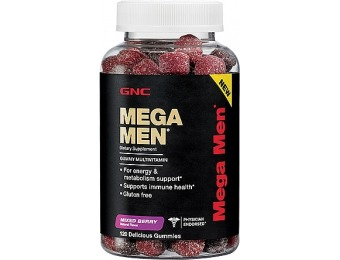 50% off GNC Mega Men Gummy Multivitamin - Mixed Berry