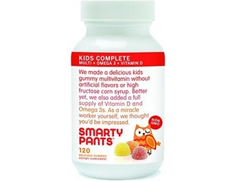 50% off SmartyPants Gummy Vitamins with Omega 3 & Vitamin D