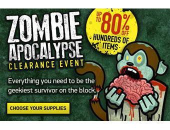 Up to 80% off Hundreds of Items During the Zombie Apocalypse Sale