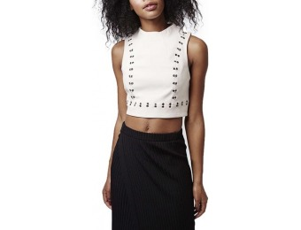$40 off Women's Topshop Embellished High Neck Crop Top