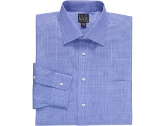 $56 off Traveler Traditional Fit Plaid Spread Collar Dress Shirt