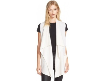 $225 off Women's Vince Drape Front Wool & Cashmere Sweater Vest