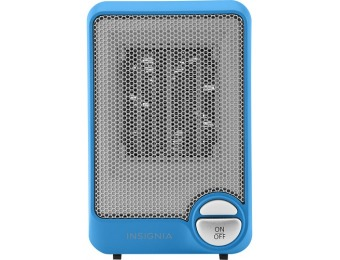 50% off Insignia NS-HTCBL6 Compact Ceramic Heater - Blue