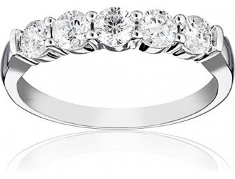 $3,168 off 14k White Gold 5-Stone Diamond 1.00 cttw Ring
