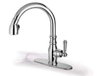 $140 off LaToscana Single-Handle Pull-Down Chrome Kitchen Faucet