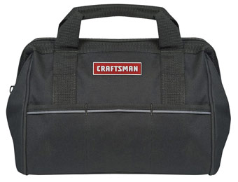 50% off Craftsman 40947 Large Mouth 12-Inch Tool Bag