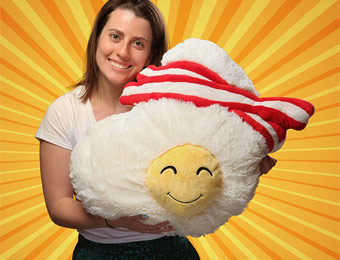 60% off Bacon & Eggs Squishable Plush Pillow Toy
