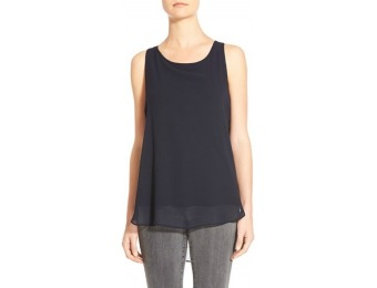 $31 off Petite Women's Matty M Chiffon Overlay High/Low Knit Tank
