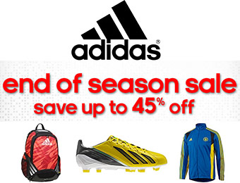 End of Season Sale - Save up to 45% off Adidas Shoes and Apparel