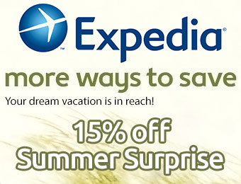 15% off Hotels with Expedia Coupon Code: EXP15B