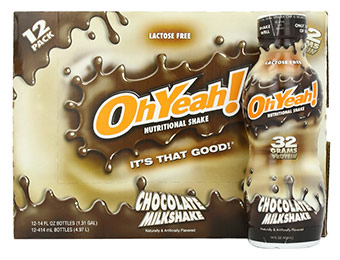 43% off 12-Pack Oh Yeah! (Vanilla or Chocolate) Nutritional Shakes