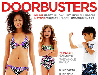 JCP Doorbusters: $10 polos, 50% off swimwear, 40% off apparel, etc.