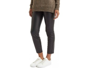 72% off Topshop Faux Leather Women's Crop Trousers