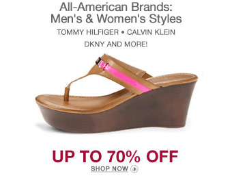 Up to 70% off All-American Brands Sale, Tommy Hilfiger, DKNY, & More