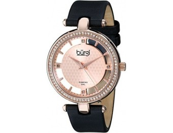 93% off Burgi Women's BUR104RG Diamond and Crystal Watch
