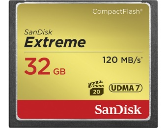 79% off SanDisk Extreme 32GB CF Memory Card SDCFXS-032G-A46