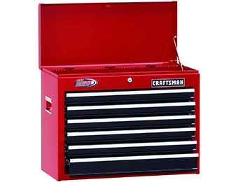 "75% off Craftsman 26"" Wide 6-Drawer Ball-Bearing Top Chest"