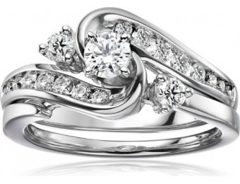 $2,501 off IGI Certified 14k White Gold Diamond Bridal Wedding Ring