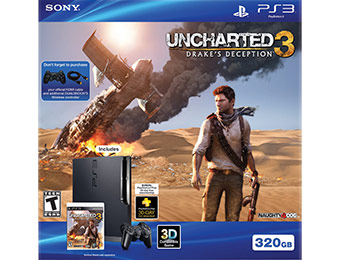 $50 off PS3 320GB Uncharted 3 Bundle