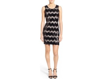68% off Junior Women's As U Wish Zigzag Sequin & Lace Dress